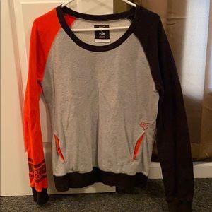 Fox sweatshirt orange, black, grey